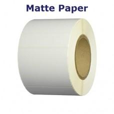 2x0.75 in. White Matte Paper
