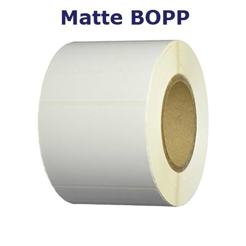 2.5x2.5 in. White Matte BOPP