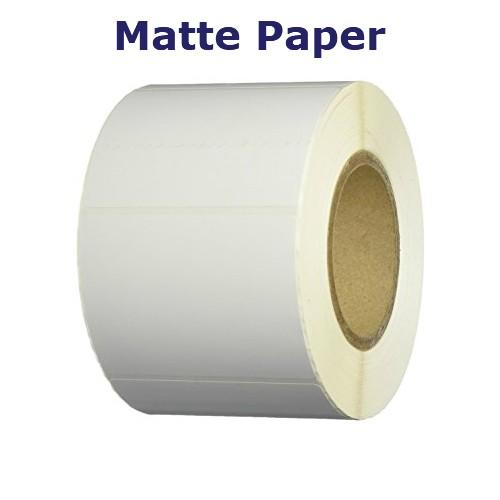 1.5x4 in. White Matte Paper