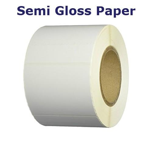 2x1 in. White Semi Gloss Paper